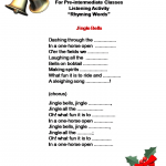 Jingle Bells Activities Rhyming Words6 By Evridiki Dakos